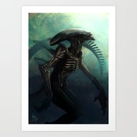 xenomorph Art Prints featuring Xenomorph by MATT DEMINO