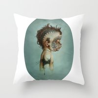 dick Throw Pillows featuring Dick by ashcloud