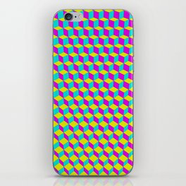 Colorful 3D Cubes Pattern iPhone Skin