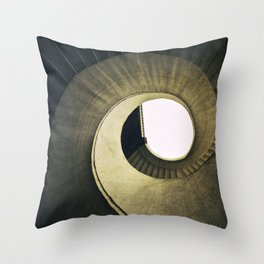 Spiral stairs in warm tones Throw Pillow