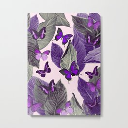 Butterfly Jungle Delight #3 #tropical #decor #art #society6 Metal Print