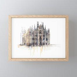 Duomo di Milano. Framed Mini Art Print