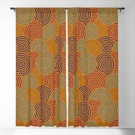 Desert Circles - Burnt Orange Blackout Curtain
