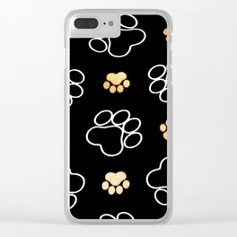 dog pawprint tracks background pet Clear iPhone Case