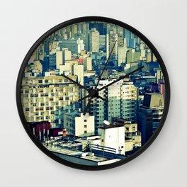 Concrete Sampa City Wall Clock