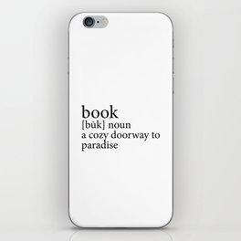 419 4 Book Definition iPhone Skin