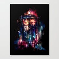 tardis Canvas Prints featuring All of Time and Space by Alice X. Zhang