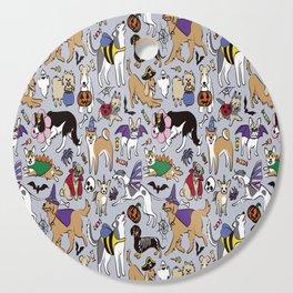 Dogs Fun Halloween Cutting Board