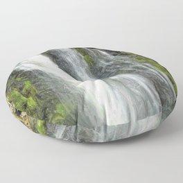 Hunua Falls, NZ Floor Pillow