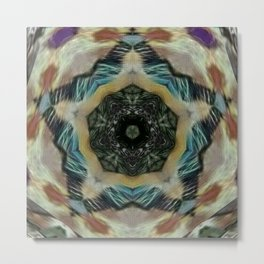 Sharpened Star Mandala Metal Print