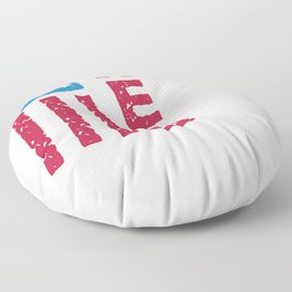RED Remembered Everyone Deployed Floor Pillow