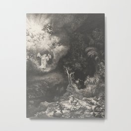 The Angel Appearing to the Shepherds Metal Print
