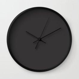 Solid Charcoal Gray Grey Wall Clock