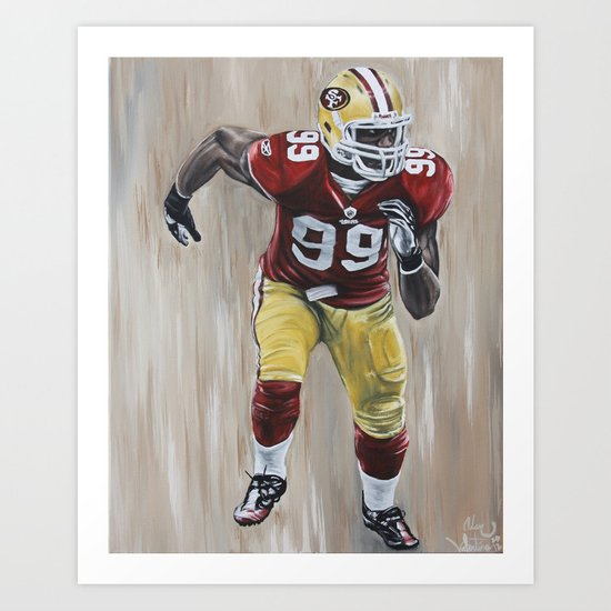 "San Francisco 49er Aldon Smith ""99 Problems"" Art Print"