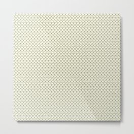 Beige Brown Scales Pattern Metal Print