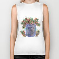 feathers Biker Tanks featuring Feathers by famenxt
