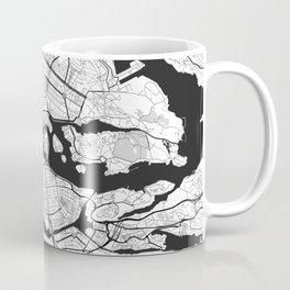 Stockholm Map Gray Coffee Mug