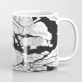 Stockholm Map Gray Coffee Mug