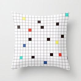 Crossword Puzzle #GraphicDesign #Minimalism Throw Pillow
