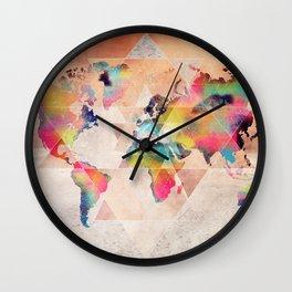 world map 33 sacred Wall Clock