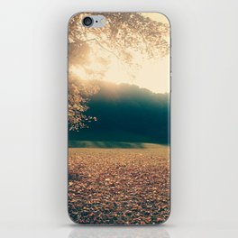 autumn comes and leafs iPhone Skin
