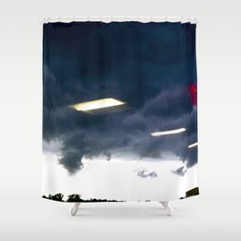 Office Lights in the sky Shower Curtain