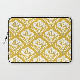 Calla Lily Pattern Mustard Yellow Laptop Sleeve