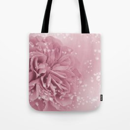 Light Pink Rose with hearts #1 #floral #art #society6 Tote Bag