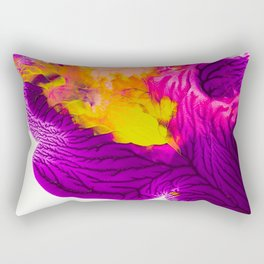 Purple Pink And Chartreuse Abstract Rectangular Pillow