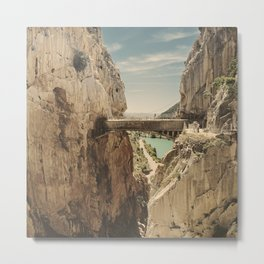 """The most dangerous trail in the world"". El Caminito del Rey Metal Print"