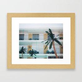 Retro Motel in Wildwood, New Jersey Framed Art Print