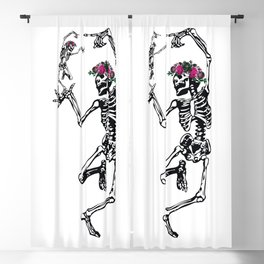 Two Dancing Skeletons | Day of the Dead | Dia de los Muertos | Blackout Curtain
