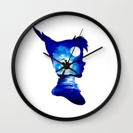 Peter Pan Double Exposure Wall Clock