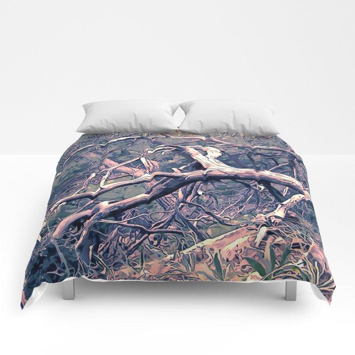 dead forest fallen trees x Comforters