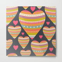 Floral Romantic Pattern 03 Metal Print