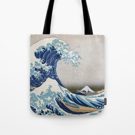 Under the Wave off Kanagawa - The Great Wave - Katsushika Hokusai Tote Bag