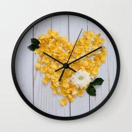 flower petals in a heart Wall Clock