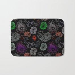 Paisleys, ornamental print Bath Mat