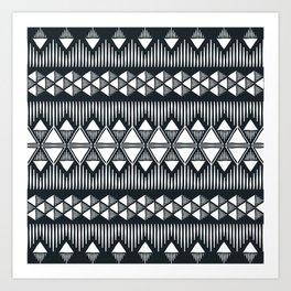 Geometric pattern ethnic style Art Print