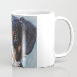 Entlebucher Mountain Dog portrait art from an original painting by L.A.Shepard Coffee Mug