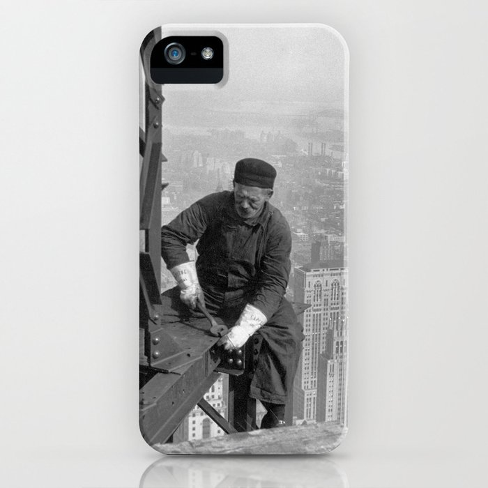 Construction Worker Working On The Empire State Building iPhone Case