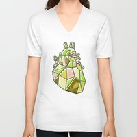 anatomical heart V-neck T-shirts featuring Anatomical Heart by Jonny Ashcroft