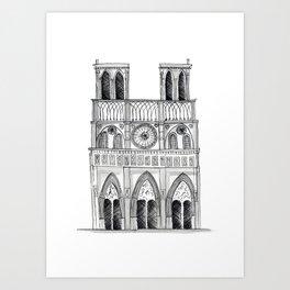 Notre Dame Sketch Art Print