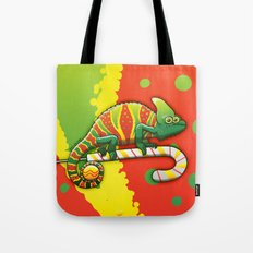 Christmas Chameleon Tote Bag