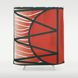 Japan rainbow on the sky of Uranus Shower Curtain