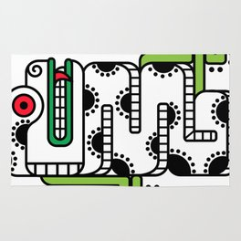 Koru-Fern Serpent Rug