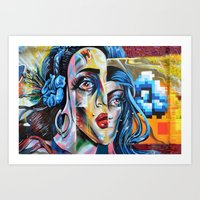 madonna Art Prints featuring Madonna by Robin Curtiss