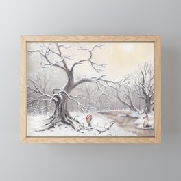 Gnome and fox Framed Mini Art Print