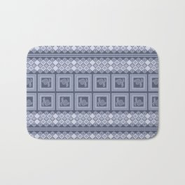 Ornament color blue . Bath Mat