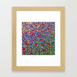Colorful Dotart by Mandalaole - Spring flowers Framed Art Print